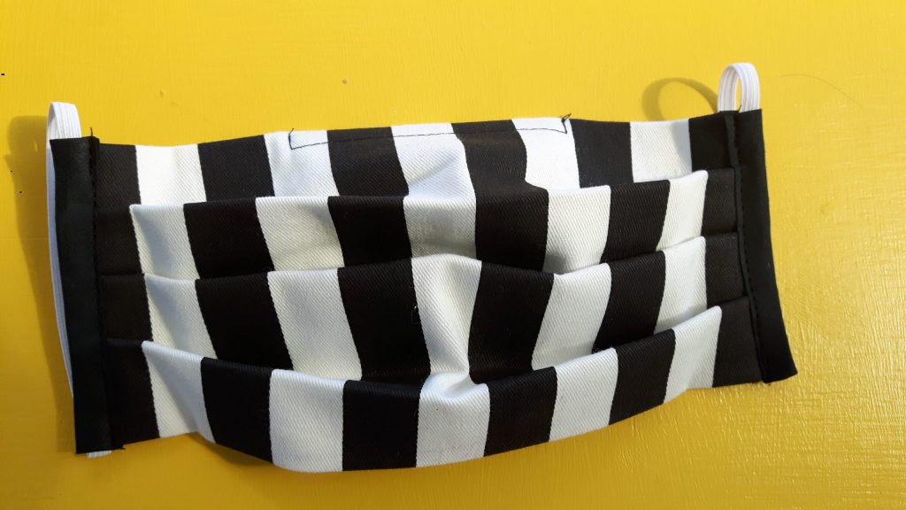 B & W Striped face covering